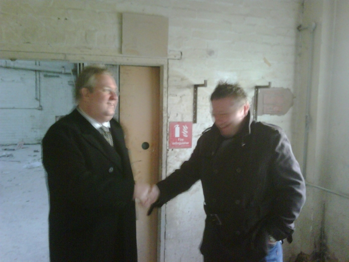 Richard Williams out meeting those seeking fully funded biomass boilers