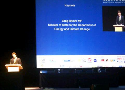 Greg Barker of DECC goes to Intersolar saying (despite his effort) solar industry is doing well in the UK